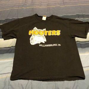 Vintage Men's Hooters T-Shirt Black Large Tee